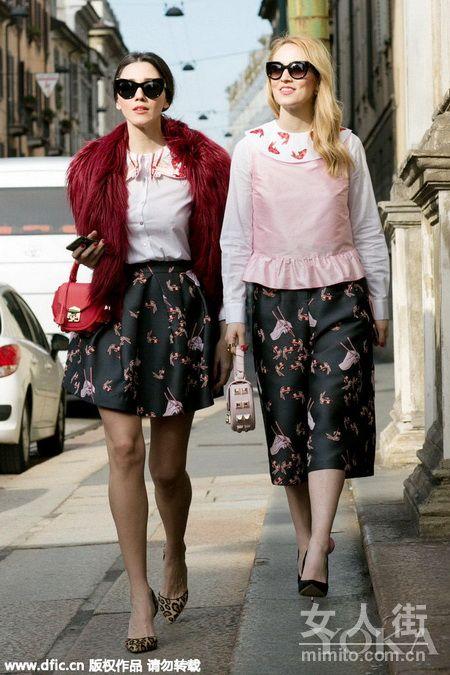 颜美任性还会穿 回顾米兰场时装周最美街拍